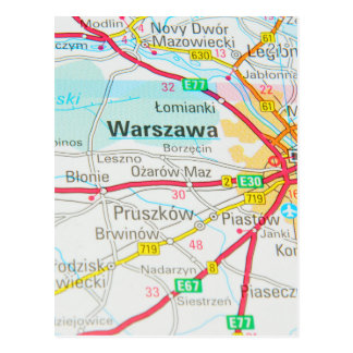 Warsaw, Warszawa  in Poland Postcard