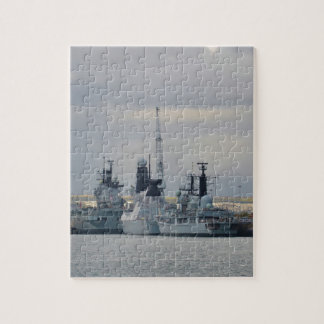 Warships In Portsmouth Jigsaw Puzzle