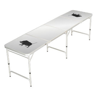 Wart Hog Silver Beer Pong Table