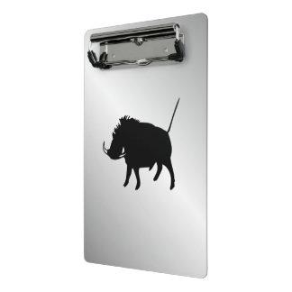Wart Hog Silver Mini Clipboard