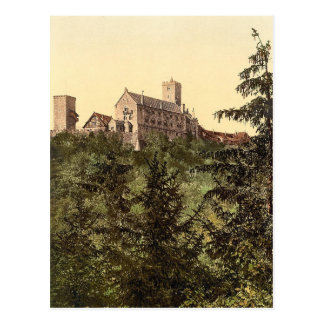 Wartburg, from Eisenach Castle, Thuringia, Germany Postcard