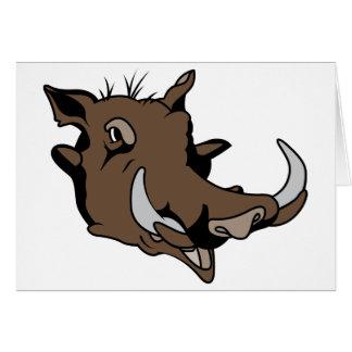 Warthog Head Card