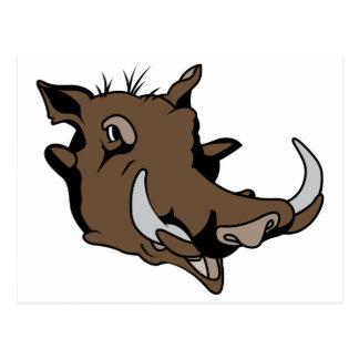Warthog Head Postcard