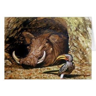 Warthog & Hornbill Card