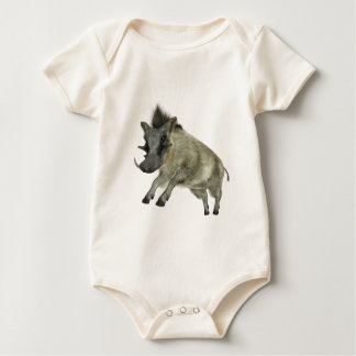 Warthog Jumping to Right Baby Bodysuit