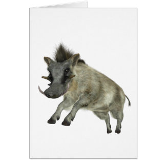 Warthog Jumping to Right Card