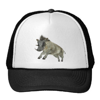 Warthog Jumping to Right Trucker Hat