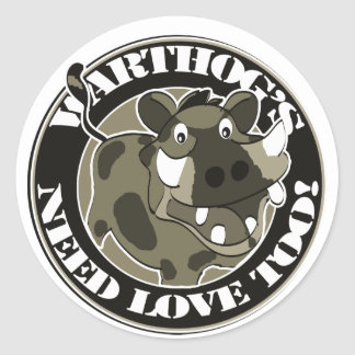 Warthog Love Classic Round Sticker