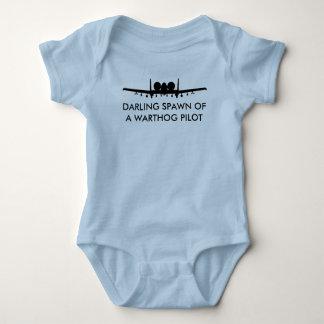 Warthog Pilot Spawn A-10 Thundebolt 2 Funny Baby Tshirts