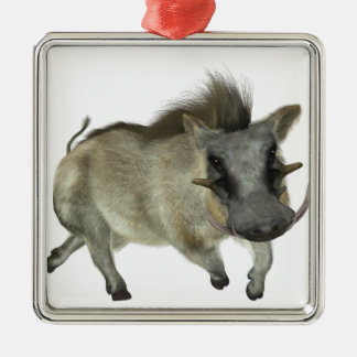 Warthog Running Left Metal Ornament