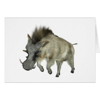Warthog Running to Right Card