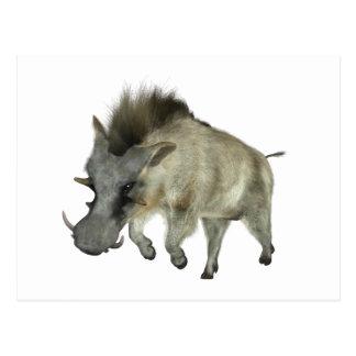 Warthog Running to Right Postcard
