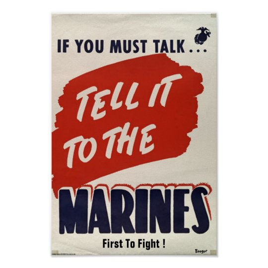 "Wartime WWII type Poster ""Marine Corps"""