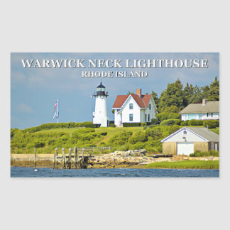 Warwick Neck Lighthouse, Rhode Island Stickers