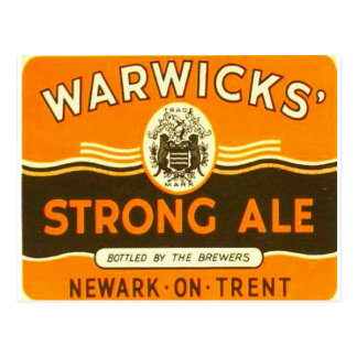 Warwick Strong Ale Postcard