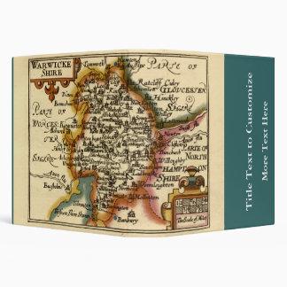 """Warwickeshire"" Warwickshire County Map Vinyl Binder"