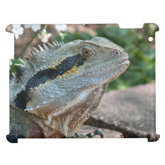 Wary Eastern Water Dragon Lizard iPad Case