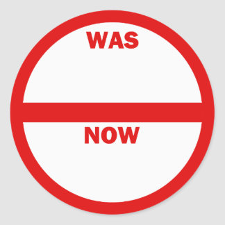 WAS - NOW Retail Sales Sticker
