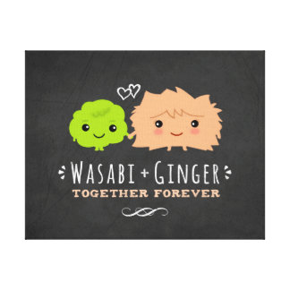 Wasabi and Ginger Together Forever Canvas Print