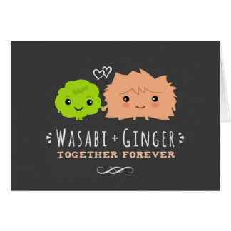 Wasabi and Ginger Together Forever Valentine's Day Card