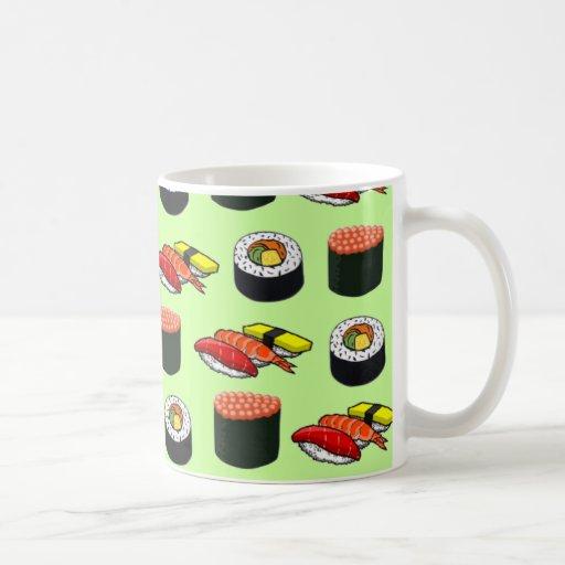 Wasabi Green Sushi Coffee Mugs