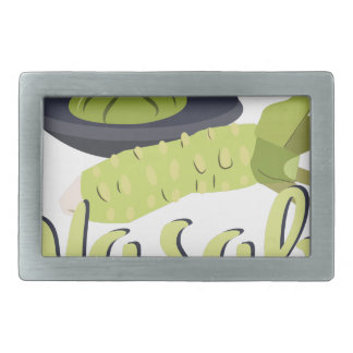 Wasabi Rectangular Belt Buckle