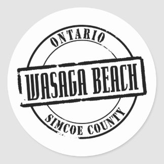 Wasaga Beach Title Classic Round Sticker