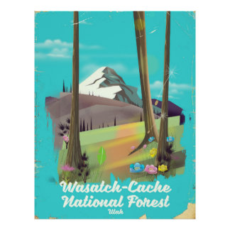 Wasatch-Cache National Forest Utah vacation poster