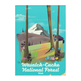 Wasatch-Cache National Forest Utah vacation poster Acrylic Wall Art