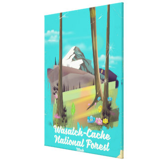 Wasatch-Cache National Forest Utah vacation poster Canvas Print