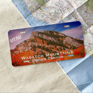 Wasatch Mountains, Utah Landscape License Plate