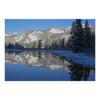 Wasatch reflections in Utah Poster