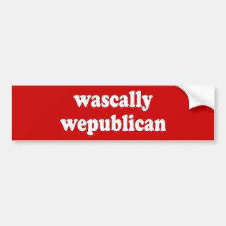wascally wepublican - rascally republican bumper sticker