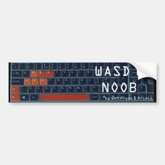 """WASD U NOOB"" Bumper Sticker"