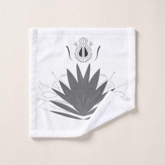 Wash cloth with lotus