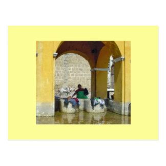 Wash Day in Antigua Postcard