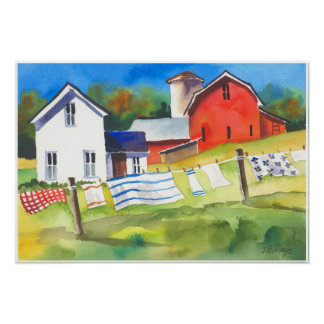 Wash Day on the Farm Poster