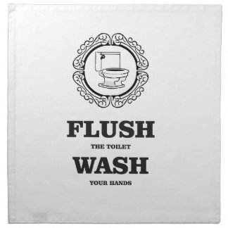 wash flush round tag napkin