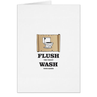 wash rules paper bathroom card