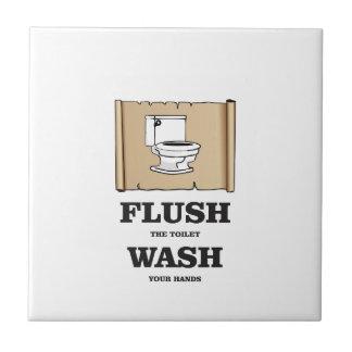wash rules paper bathroom ceramic tiles