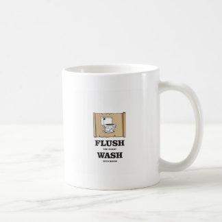 wash rules paper bathroom coffee mug
