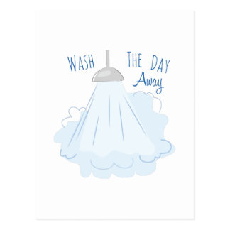 Wash The Day Away Postcard