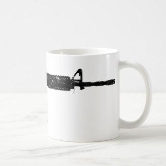 Wash Worn AR15 Classic White Coffee Mug