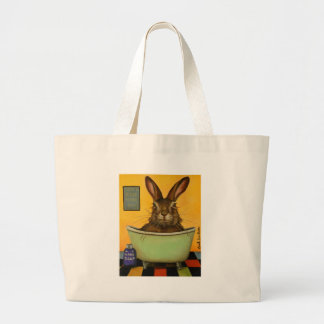 Wash Your Hare Large Tote Bag