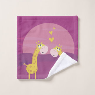 Washcloth  cute giraffes wash cloth