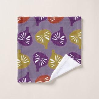 Washcloth with Figs purple Wash Cloth
