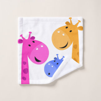 Washcloth with giraffes wash cloth