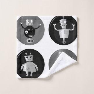 Washcloth with   robots wash cloth