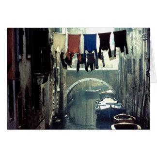 Washday in Venice Italy Card