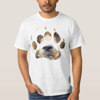 Washed out bear paw tee
